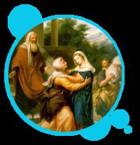 MISTERIO GOZOSO: LA VISITA DE MARIA SANTÍSIMA A SU PRIMA SANTA ISABEL, Y SANTIFICACIÓN DE SAN JUAN BAUTISTA
