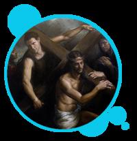 MISTERIO DOLOROSO: JESÚS CON LA CRUZ A CUESTAS