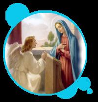 MISTERIO GOZOSO : LA ANUNCIACIÓN DEL ARCÁNGEL SAN GABRIEL A MARIA SANTÍSIMA , Y ENCARNACIÓN DEL HIJO DE DIOS
